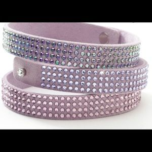 Touchstone Crystal lavender tri wrap bracelet NWT